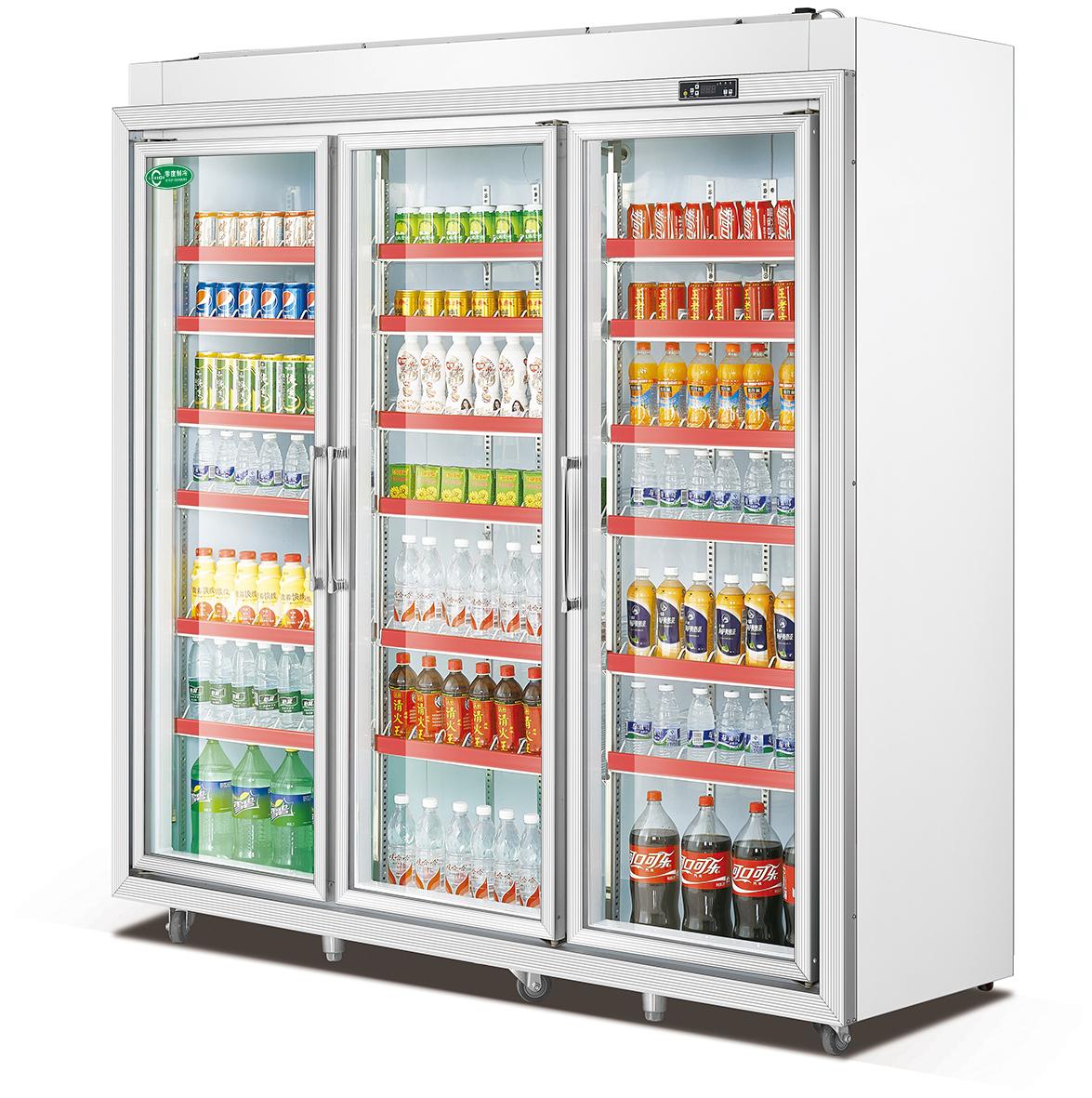 铝合金三门展示柜分体机