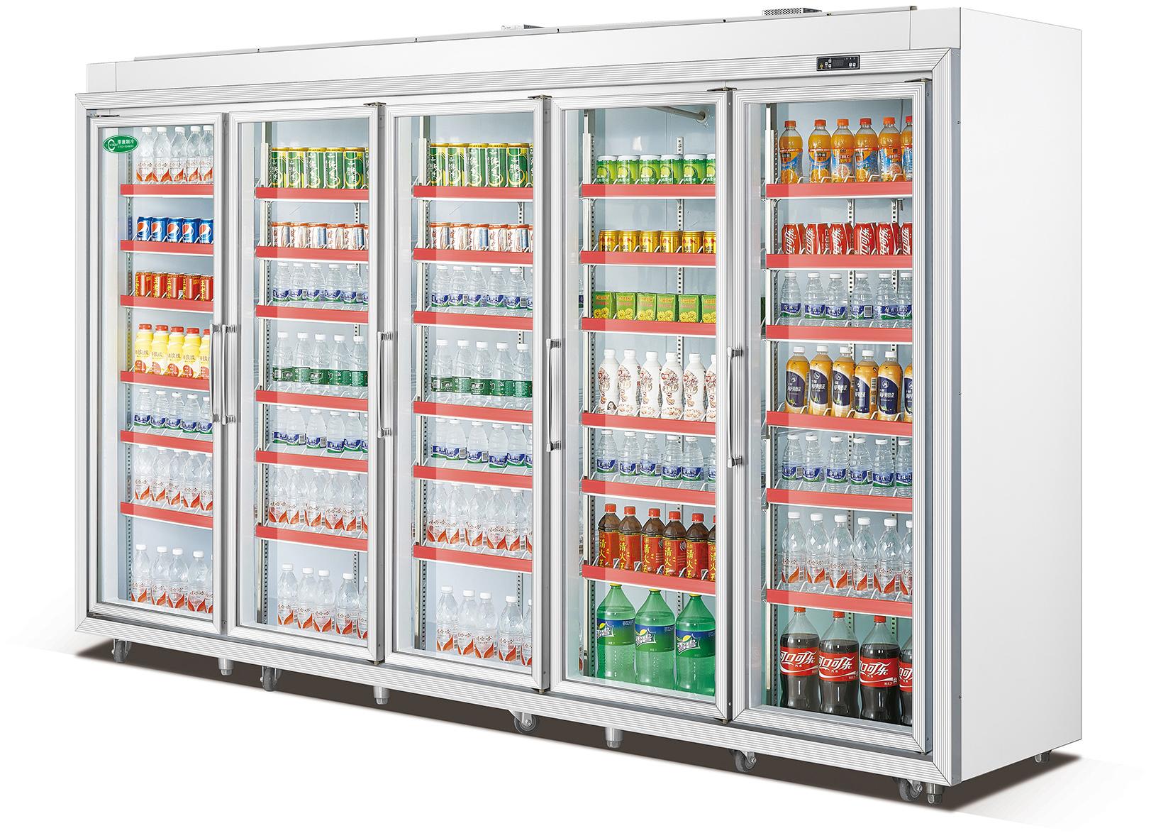 铝合金五门展示柜分体机